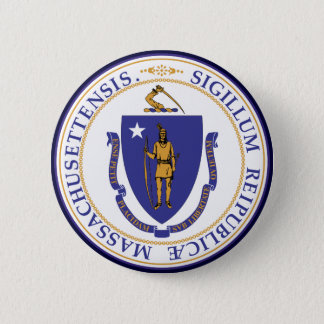 Massachusetts State Seal Button