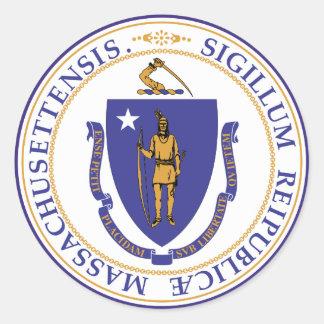 Massachusetts State Seal Classic Round Sticker