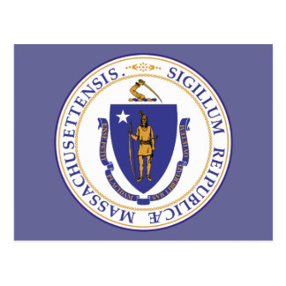MASSACHUSETTS STATE SEAL - POSTCARD