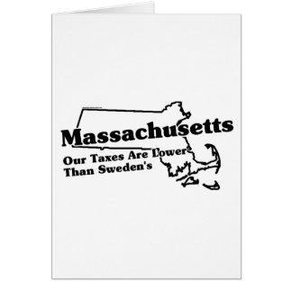 Massachusetts State Slogan Card