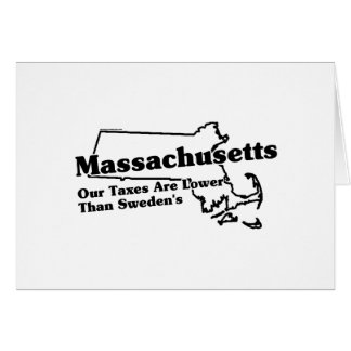 Massachusetts State Slogan Greeting Cards