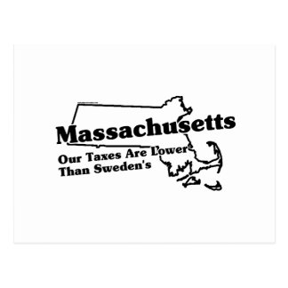 Massachusetts State Slogan Postcard