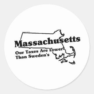 Massachusetts State Slogan Stickers
