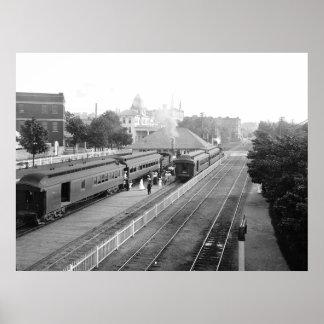 Massachusetts suburbano de Petosky de la estación  Póster