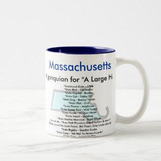Massachusetts Symbols & Map Mugs