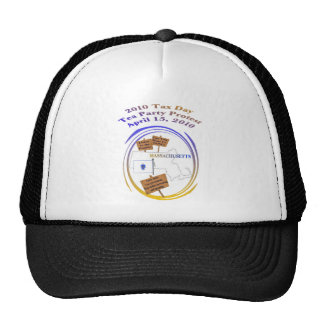Massachusetts Tax Day Tea Party Protest Hats