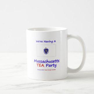 Massachusetts TEA Party We're Taxed Enough Already Classic White Coffee Mug