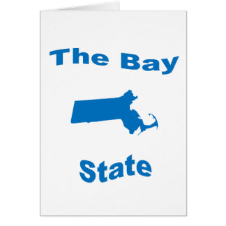 Massachusetts The Bay State Greeting Card