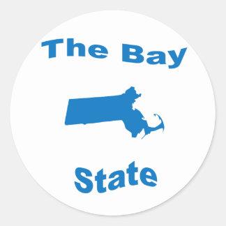 Massachusetts: The Bay State Round Stickers