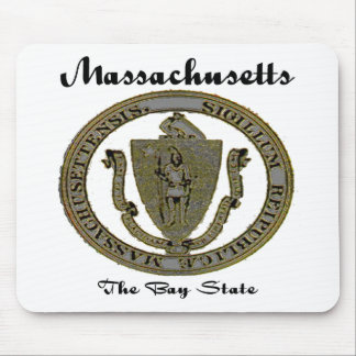 Massachusetts The Bay State Seal Mouse Pad