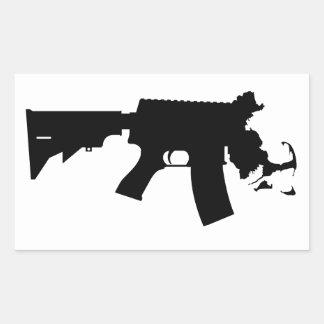 Massachusetts - The Spirit of America AR Variant Rectangular Sticker
