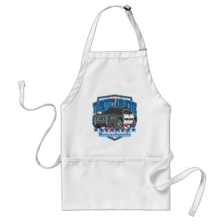 Massachusetts To Protect and Serve Police Car Adult Apron