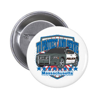 Massachusetts To Protect and Serve Police Car Pin