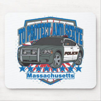 Massachusetts To Protect and Serve Police Car Mouse Pad