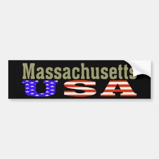 Massachusetts USA! Bumper Sticker Car Bumper Sticker