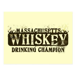 Massachusetts Whiskey Drinking Champion Postcard