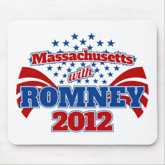 Massachusetts with Romney 2012 Mouse Pad