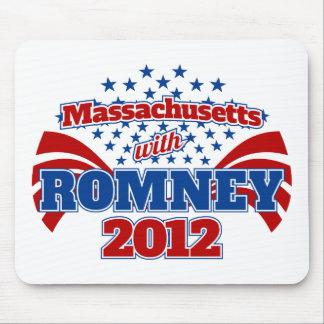 Massachusetts with Romney 2012 Mousepads