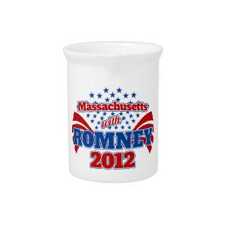 Massachusetts with Romney 2012 Beverage Pitcher