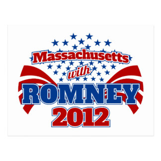 Massachusetts with Romney 2012 Post Cards