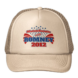 Massachusetts with Romney 2012 Trucker Hat