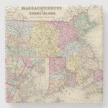 Massachusetts y Rhode Island 2 Posavasos De Piedra