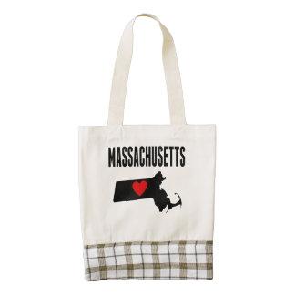 Massachusetts Zazzle HEART Tote Bag