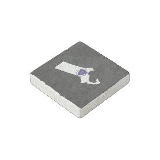 Massachusettsan Trip Souvenir Stone Magnet