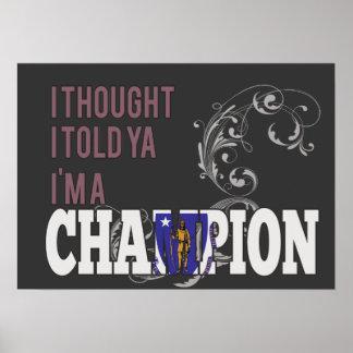 Massachusettsan y un campeón póster