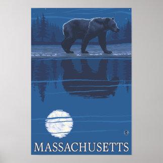 MassachusettsBear en el claro de luna Impresiones