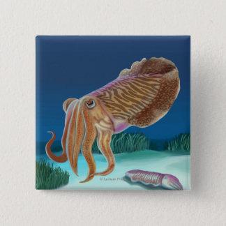 MassachusettsCuttlefish Scene Pinback Button