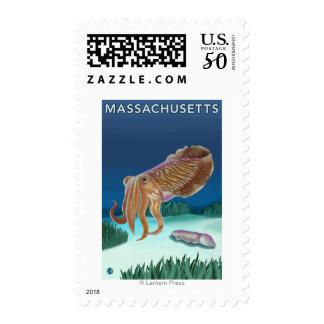 MassachusettsCuttlefish Scene Postage