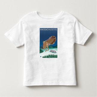 MassachusettsCuttlefish Scene Toddler T-shirt