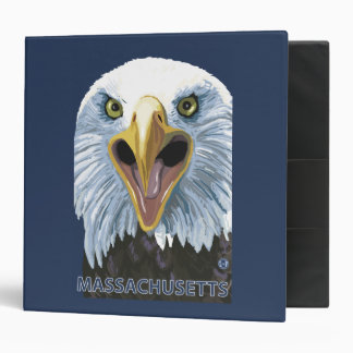 MassachusettsEagle Up Close 3 Ring Binder