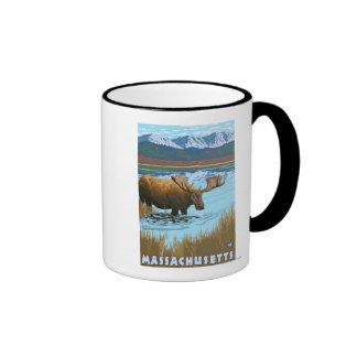 MassachusettsMoose Drinking in Lake Coffee Mug