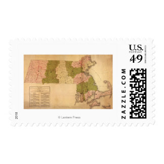 MassachusettsPanoramic MapMassachusetts Postage