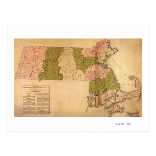 MassachusettsPanoramic MapMassachusetts Postales