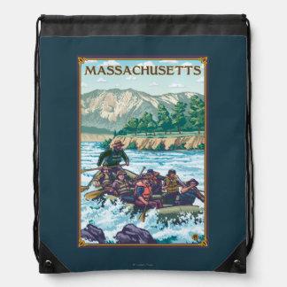 MassachusettsRiver que transporta escena en balsa Mochilas