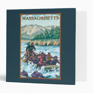 MassachusettsRiver Rafting Scene 3 Ring Binder