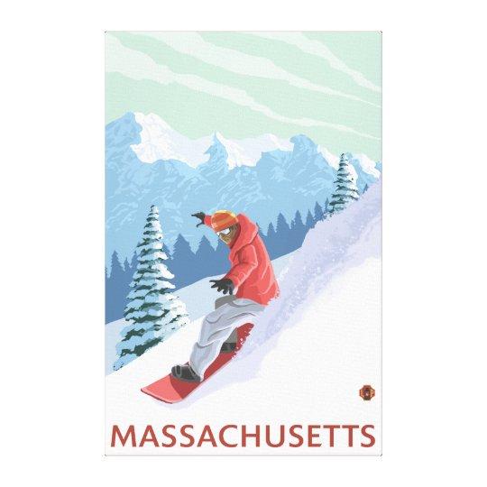 MassachusettsSnowboarder Scene Canvas Print