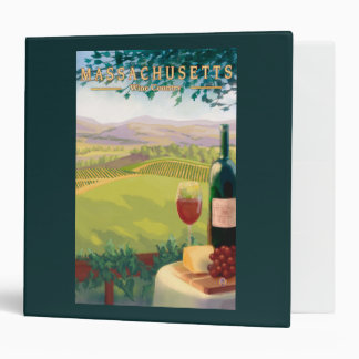 MassachusettsWine Country Scene Binder
