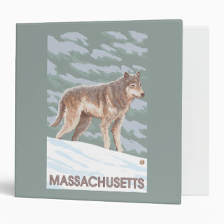 MassachusettsWolf Scene 3 Ring Binder
