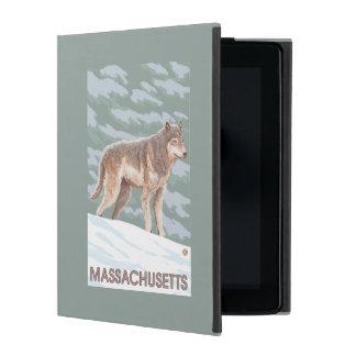 MassachusettsWolf Scene iPad Case