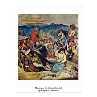 Massacre At Chios (Study) By Eugene Delacroix Postcard