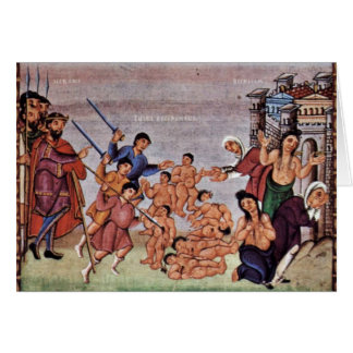 Massacre Of The Innocents By Kerald  (Best Quality Greeting Card