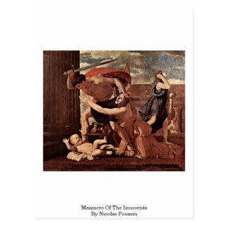Massacre Of The Innocents By Nicolas Poussin Postcard