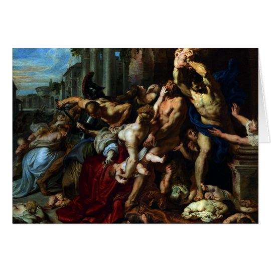 Massacre of the Innocents by Peter Paul Rubens Card