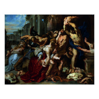 Massacre of the Innocents by Peter Paul Rubens Poster