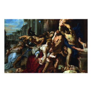 Massacre of the Innocents by Peter Paul Rubens Stationery