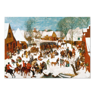 Massacre of the Innocents by Pieter Bruegel Card